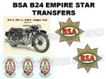 BSA B24 Transfers and Decals Sets
